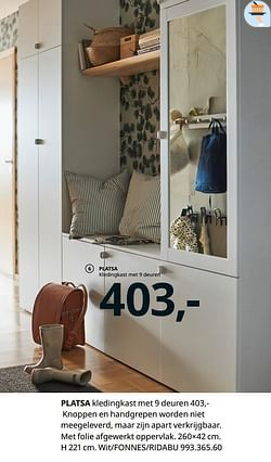 Platsa kledingkast met 9 deuren
