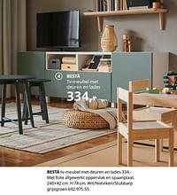 Bestå tv-meubel met deuren en lades-Huismerk - Ikea
