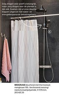 Brogrund doucheset met thermostaatmengkraan-Huismerk - Ikea