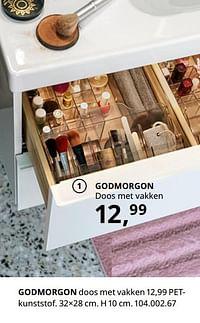 Godmorgon doos met vakken-Huismerk - Ikea