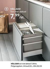 Hållbar ton met deksel-Huismerk - Ikea