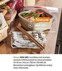 Ikea 365+ lunchbox met inzetten, vierkant
