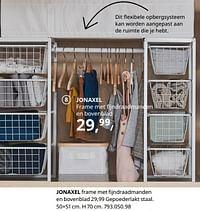 Jonaxel frame met fijndraadmanden en bovenblad-Huismerk - Ikea