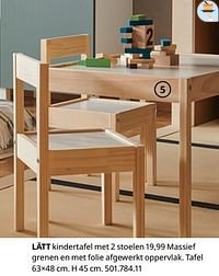 Lätt kindertafel met 2 stoelen-Huismerk - Ikea