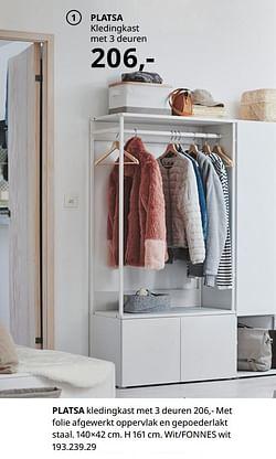 Platsa kledingkast met 3 deuren