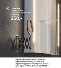 Storjorm spiegelkast met 2 deuren en ingebouwde verlichting-Huismerk - Ikea