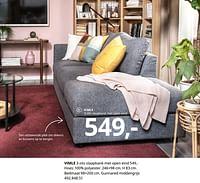 Vimle 3-zits slaapbank met open eind-Huismerk - Ikea