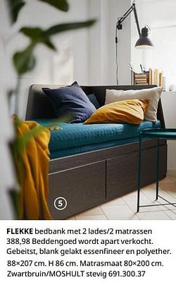 Flekke bedbank met 2 lades-2 matrassen