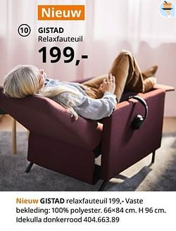 Gistad relaxfauteuil