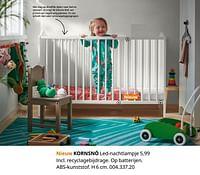 Kornsnö led-nachtlampje-Huismerk - Ikea