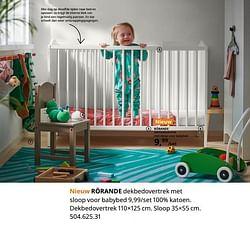 Rörande dekbedovertrek met sloop voor babybed