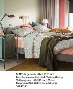 Slattum overtrokken bedframe