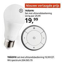 Trådfri set met afstandsbediening-Huismerk - Ikea
