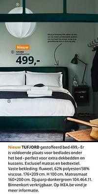 Tufjord gestoffeerd bed-Huismerk - Ikea