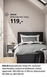Malm bedonderstel, hoog-Huismerk - Ikea