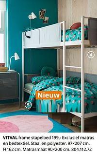 Vitval frame stapelbed-Huismerk - Ikea