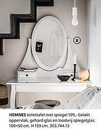 Hemnes toilettafel met spiegel-Huismerk - Ikea