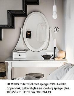 Hemnes toilettafel met spiegel