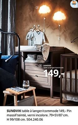 Sundvik table à langer-commode