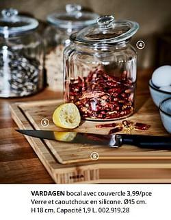 Vardagen bocal avec couvercle