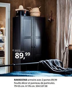 Rakkestad armoire avec 2 portes