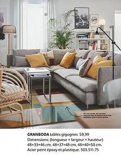Granboda tables gigognes