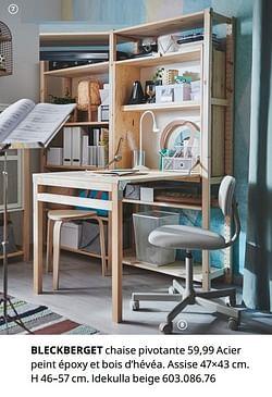 Bleckberget chaise pivotante
