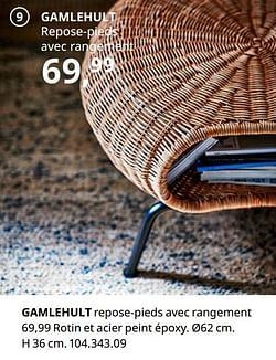 Gamlehult repose-pieds avec rangement