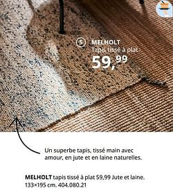 Melholt tapis tissé à plat