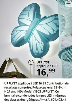 Upplyst applique à led