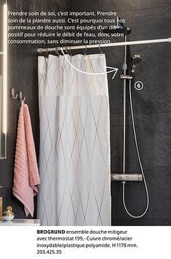 Brogrund ensemble douche mitigeur avec thermostat