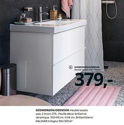 Godmorgon-odensvik meuble lavabo avec 2 tiroirs