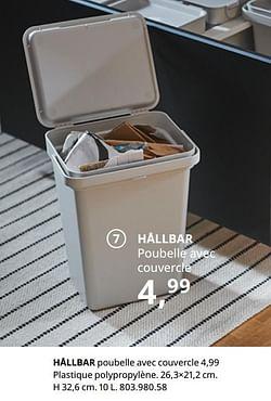 Hållbar poubelle avec couvercle