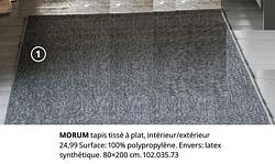 Morum tapis tissé à plat, intérieur-extérieur