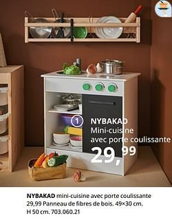 Nybakad mini-cuisine avec porte coulissante