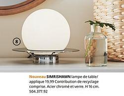 Simrishamn lampe de table- applique