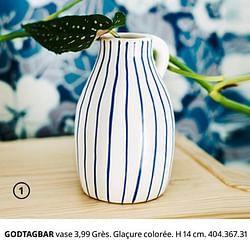 Godtagbar vase