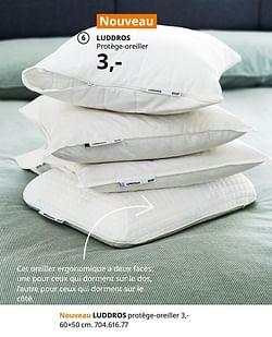 Luddros protège-oreiller