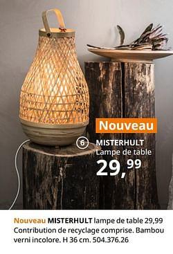 Misterhult lampe de table