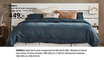 Promotion Ikea Nordli Cadre De Lit Avec Rangement Et Tete De Lit Produit Maison Ikea Meubles Valide Jusqua 4 Promobutler
