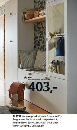 Platsa armoire-penderie avec 9 portes