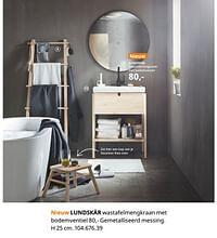 Lundskär wastafelmengkraan met bodemventiel-Huismerk - Ikea