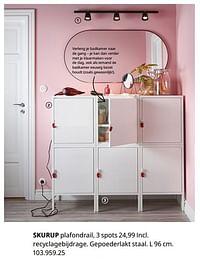 Skurup plafondrail, 3 spots-Huismerk - Ikea
