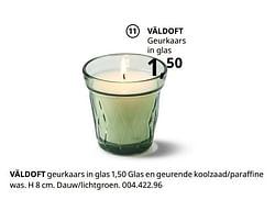 Väldoft geurkaars in glas