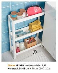 Vesken kastje op wielen-Huismerk - Ikea