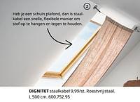 Dignitet staalkabel-Huismerk - Ikea