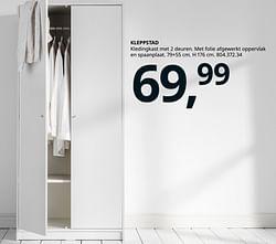 Kleppstad kledingkast met 2 deuren