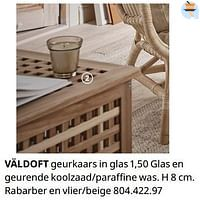 Väldoft geurkaars in glas-Huismerk - Ikea