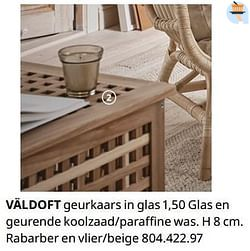 Väldoft geurkaars in glas