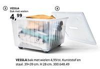 Vessla bak met wielen-Huismerk - Ikea